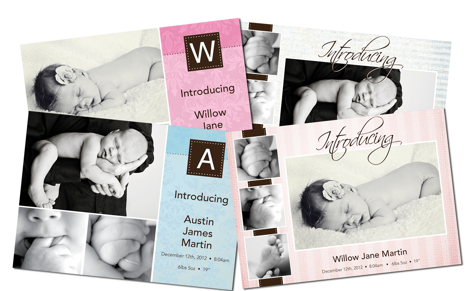 New baby announcement templates experience photography for Baby announcements templates